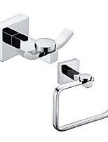 Bathroom Accessory Set / Toilet Paper Holder / Robe Hook / Chrome / Wall Mounted /Toilet roll holder/Brass /Contemporary