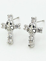 Earring Cross Jewelry Women Fashion Wedding / Party / Daily / Casual / Sports Alloy / Rhinestone 1 pair Silver