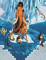 JAMMORY 3D Wallpaper For Home Contemporary Wall Covering Canvas Material Animals on The Glacier3XL(14'7''*9'2'')