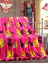 Smile Fleece fabric blanket summer comforter Air conditioning throw winter soft bedsheet for single or double bed