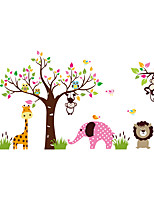 Animals Zoo Wall Stickers Elephant Wall Stickers Decorative Wall Stickers,PVC  Monkey Wall Decal
