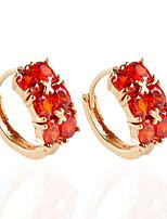 1 pair/Red/WhiteStud Earrings forWomen