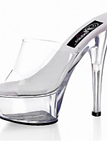 15cm crystal cool drag Women's Shoes PVC Heels Wedding/Outdoor/Party & Evening Stiletto Heel/The stage catwalk shows