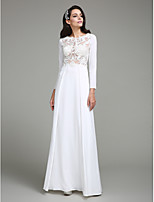 TS Couture® Formal Evening Dress Sheath / Column Jewel Floor-length Chiffon with Appliques / Buttons