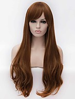 Fashion Synthetic Wigs Multi-color Top Quality Long Wavy Light BrownSynthetic Wig Hot Sale.