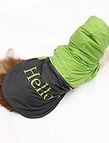 2016 Puppy Pet Dog Raincoat Hoody Waterproof Rain Jackets Apparel Glisten Bar Hello Large Dog Clothes