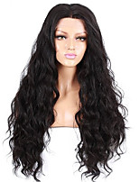 EVAWIGS 16-26'' Natural Wave Water Wave Brazilian Remy Hair Full Lace Wig Natural Black