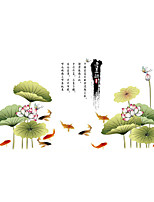 Wall Stickers Wall Decals Style Tuba Ink lotus PVC Wall Stickers