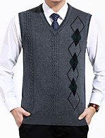 Men's Print Casual Pullover,Cotton / Polyester Long Sleeve Gray