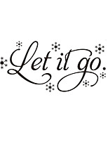 Words & Quotes Wall Stickers Cartoon Wall Stickers Vinyl Murals Removable   Motivation Let It Go Decals