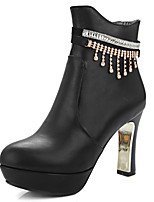 Women's Shoes Fall / Winter Fashion Boots / Round Toe Boots Office & Career / Party & Evening / Dress Chunky Heel