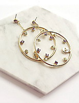 Drop Earring Round Jewelry 1 pair Fashionable Alloy Gold Daily / Casual