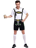 Cosplay Kostüme Oktoberfest/Bier Film Cosplay Blau einfarbig Top / Hosen Halloween / Karneval / Oktoberfest Mann Polyester