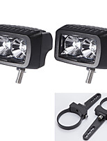 2PC Cree 10W Led Work Light Bar Offroad Driving Bar Car 12V and A pair Mounting     Brackets