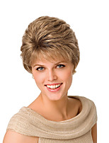 Ms Fashion in Europe And The Short Hair Golden Brown Partial Points 4 Inch