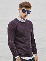 WILSHEMON® Men's Round Neck Long Sleeve Sweater & Cardigan  Burgundy / Light Gray / Fuchsia / Dark Gray-WS16C16701