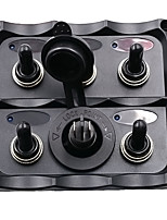 Car, RV, boat five sets of toggle switches + 12V / 24V Car refrigerator dedicated jack assembly panel