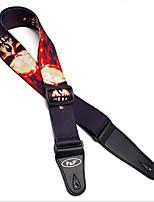 Guitar Strap Thermal Transfer Printing Black And White Folk Guitar Strap Hanging Belt