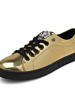 Men's Loafers & Slip-Ons Spring / Fall Comfort Patent Leather Casual Flat Heel  Black / Silver / Gold Walking