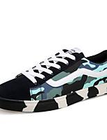 Herren-Flache Schuhe-Lässig-PU-Flacher Absatz-Flache Schuhe-Blau / Grün