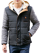Winter's men and 2016 new men's cotton padded jacket collar knitted sleeve cotton thickened Korean tide