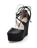 Women's four seasons Wedges Heels / Platform / Round Toe Leatherette Office & Career / Dress / Casual Wedge Heel