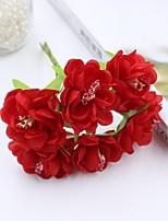 Hi-Q 1Pc Decorative Flower Hand Bouquet Plum Wedding Home Table Decoration Artificial Flowers