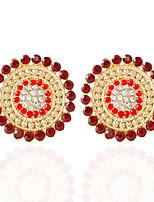 1pair/red/blue/white/coffee/blackStud Earrings