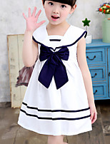 Girl's Casual/Daily Striped DressCotton Summer Blue / Red / White