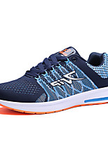 Men's Shoes Casual Fabric Fashion Sneakers Running Shoes Black / Blue