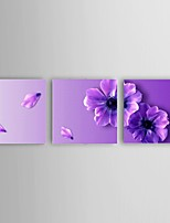 Ready To Hang Hand Painted Romantic purple flower Oil Painting Modern Abstract Restaurant Decor with Stretched Framed