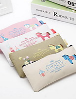 New Cartoon Oxford Cloth Zipper Pencil Case Storage Bag Student Stationery with Pony Pattern
