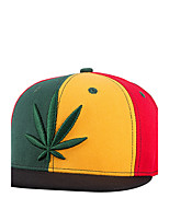 New Men Women Weed Leaf Embroidery Red Yellow Green Patchwork Hip Hop Baseball Caps