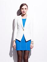 Mara Carol® Damen Hemdkragen Lange Ärmel Pullover & Cardigan Weiß-5305577
