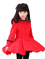 Girl's Casual/Daily Patchwork Dress / Suit & Blazer,Rayon Spring / Fall Red