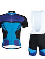 Cycyling PaladinSport Men Shirt + Straps Shorts Suit BKT647 Nerazzurri Splicing