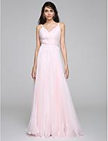 Tubinho Vestido de Noiva Longo Alças Organza com Drapeado Lateral