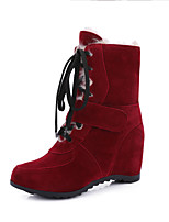 Women's Boots Fall / Winter Fashion Boots Dress Wedge Heel Others Black / Brown / Red / Camel Walking