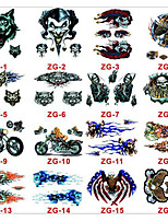 With The Auto Electric Motorcycle Trade Decal Skeleton Demon Beauty Fashion Personality Wolf Terror Car Stickers