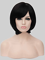 Short Black Bouffant Style Synthetic Wig