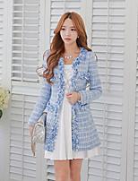 DABUWAWA® Women's Round Neck Long Sleeve Wool Coat