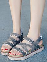 Women's Sandals Summer Sandals / Open Toe PU Outdoor Flat Heel Others Blue / Gray / Beige Others