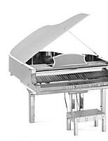 Puzzles 3D - Puzzle Bausteine DIY Spielzeug Piano 1 Metall Silber Spiel-Spielzeug