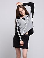 ARNE® Women's V Neck Long Sleeve Sets Gray-A011