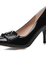 Women's Shoes Patent Leather Summer/Pointed Toe Heels Office & Career/Casual Stiletto Heel BowknotBlack/Blue/Pink
