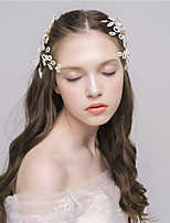 MISS DIVA Women's Imitation Pearl Headpiece  Hair Clip 1 Piece Gold Flower 54.5
