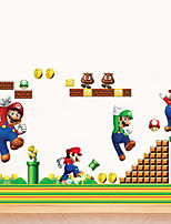 Super Mario Cartoon Wall Stickers Kindergarten Background Children's Bedroom Wall Decals