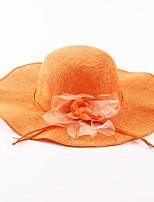 Для женщин Для женщин Винтаж / На каждый день Шляпа от солнца,Лён / Соломка,Весна / Лето