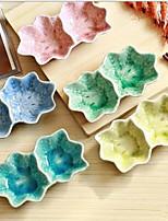à double vêlage plat de saveur céramique corps distique feuille d'érable (couleur aléatoire)