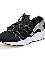 Men's Sneakers Spring / Fall Round Toe PU Athletic Flat Heel Others / Lace-up Black / Red Sneaker